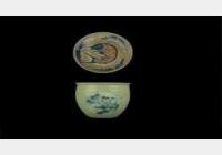 20140511一槌定音视频和笔记:豆青釉青花缸,明和田玉璧,张伯英