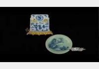 20140615一槌定音视频和笔记:清豆青釉青花盘,明铜佛,吴玉如行书