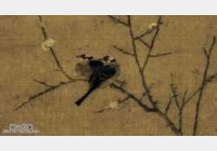 20050304国宝档案视频和笔记:腊梅山禽图,宋徽宗