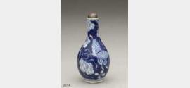 清代青花瓷蝴蝶纹鼻烟壶的图片,特点,价格,鉴赏,馆藏