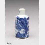 清代青花瓷山水人物纹鼻烟壶的图片,特点,价格,鉴赏,馆藏