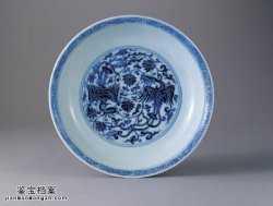 明代宣德青花双凤穿莲纹盘的图片,特点,价格,鉴赏,馆藏