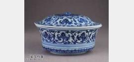 明代宣德青花缠枝莲纹盖碗的图片,特点,价格,鉴赏,馆藏