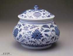明代宣德青花四季花卉纹盖罐的图片,特点,价格,鉴赏,馆藏