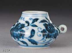 明代宣德窑青花月季花纹鸟食罐的图片,特点,价格,鉴赏,馆藏
