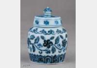 明代宣德窑青花转枝海棠花纹小盖罐的图片,特点,价格,鉴赏,馆