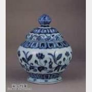 明代宣德窑青花转枝海棠花纹盖罐的图片,特点,价格,鉴赏,馆藏