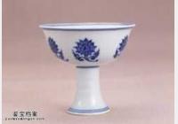 明代宣德窑青花折枝莲纹高足杯的图片,特点,价格,鉴赏,馆藏