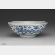 明代青花穿花凤碗的图片,特点,价格,鉴赏,馆藏