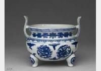 明代晚期青花龙纹鼎式炉的图片,特点,价格,鉴赏,馆藏