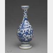 清代成化款青花云龙小瓶的图片,特点,价格,鉴赏,馆藏