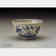 明代嘉靖青花云鹤杯的图片,特点,价格,鉴赏,馆藏