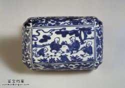 明代万历青花婴戏龙纹长方盒的图片,特点,价格,鉴赏,馆藏