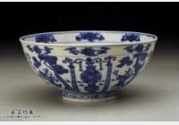 明代万历青花仙人碗的图片,特点,价格,鉴赏,馆藏
