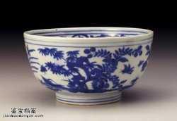 明代嘉靖青花四季花卉碗的图片,特点,价