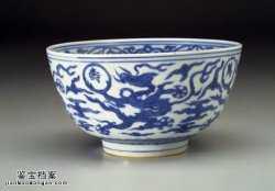 明代嘉靖青花云龙万寿清平碗的图片,特点,价格,鉴赏,馆藏