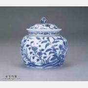 明代无款青花草花纹罐的图片,特点,价格,鉴赏,馆藏