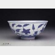 明代成化窑青花花卉纹碗的图片,特点,价格,鉴赏,馆藏