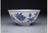 明代成化窑青花葵花纹碗的图片,特点,价格,鉴赏,馆藏