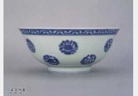 明代成化窑青花四季团花果纹碗的图片,特点,价格,鉴赏,馆藏