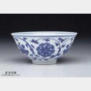 明代成化窑青花转枝宝莲纹碗的图片,特点,价格,鉴赏,馆藏
