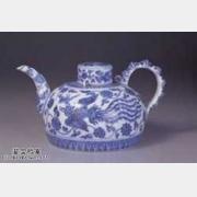 明代永乐无款青花凤凰纹三系茶壶的图片,特点,价格,鉴赏,馆藏