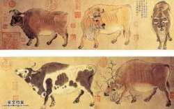 20050810国宝档案视频和笔记:五牛图(上),韩��,宋徽宗,唐朝名画录