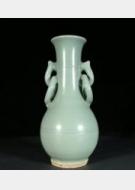 免费鉴宝第110期:元代龙泉窑梅子青双环耳瓶
