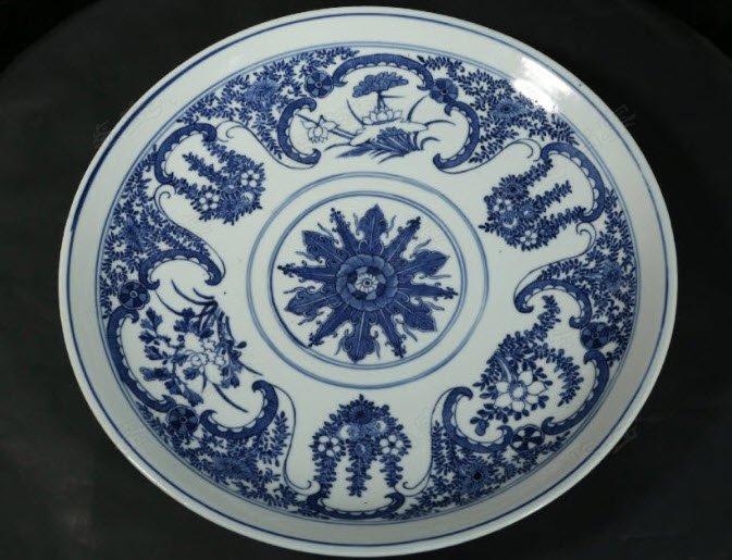 免费鉴宝第117期:清康熙青花花卉纹外销瓷盘
