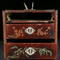 免费鉴宝第118期:清中晚期漆器首饰提盒