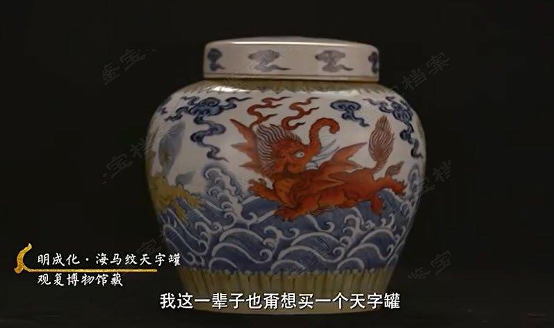 马未都脱口秀《观复嘟嘟》第116期:明成化斗彩海马纹天字罐
