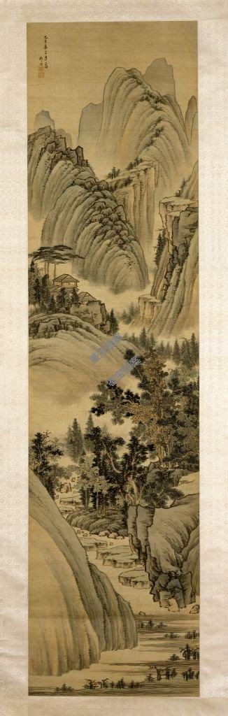 清《山水图》轴档案