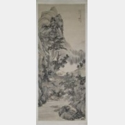 清康熙十六年邹喆绘《山水图》轴档案