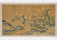 清乾隆刺绣牡丹雉鸡图轴档案
