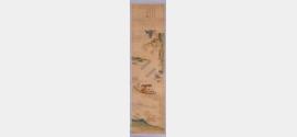 清乾隆刺绣赤壁夜游图轴档案