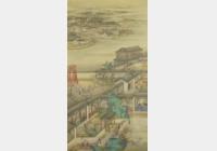 清雍正十二月行乐图轴档案